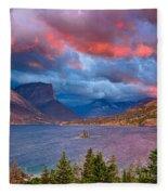 Wild Goose Island Overlook September Sunrise Fleece Blanket