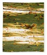 Wild Gray Squirrel Fleece Blanket