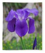 Wild Growing Iris Croatia Fleece Blanket