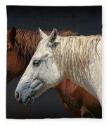 Wild Horses Fleece Blanket