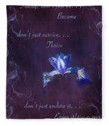 Wild Iris Inspirational Print Fleece Blanket
