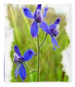 Wild Larkspurs Fleece Blanket