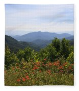 Wild Lilies With A Mountain View Fleece Blanket