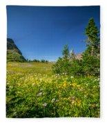 Wild Mountain Flowers Glacier National Park   Fleece Blanket