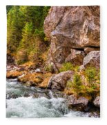 Wild Mountain River Fleece Blanket