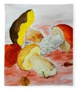 Wild Mushrooms Fleece Blanket