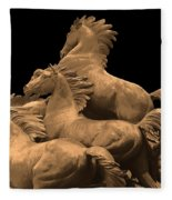 Wild Mustang Statue I I I Fleece Blanket