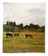 Wild Mustangs Carpe Diem Fleece Blanket