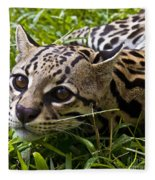 Wild Ocelot Fleece Blanket