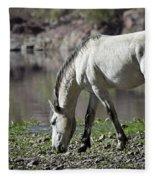 Wild On The River  Fleece Blanket