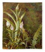 Wild Orchids Fleece Blanket