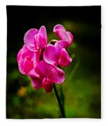Wild Pea Flower Fleece Blanket