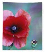 Wild Poppy Fleece Blanket
