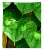 Wild Potato Vine Fleece Blanket
