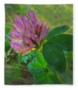 Wild Red Clover Blossom Fleece Blanket