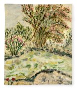 Wild Rhododendrons Near The River Fleece Blanket