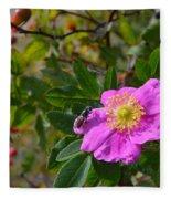 Wild Rose 3 Fleece Blanket