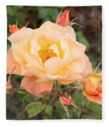 Wild Rose Fleece Blanket