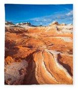 Wild Sandstone Landscape Fleece Blanket