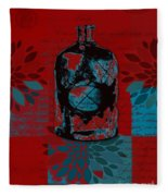 Wild Still Life - 0101a - Red Fleece Blanket