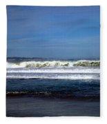 Wild Surf At Seaside Beach Fleece Blanket