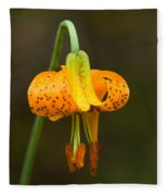Wild Tiger Lily Fleece Blanket