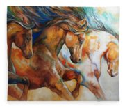 Wild Trio Run Fleece Blanket