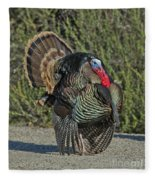 Wild Turkey Tom Fleece Blanket