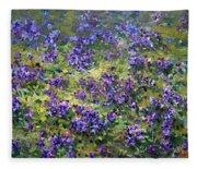 Wild Violets  Fleece Blanket