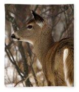 Wild White-tailed Deer Fleece Blanket