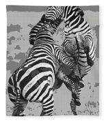 Wild Zebras Fleece Blanket