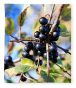 Wildberry Plant Fleece Blanket