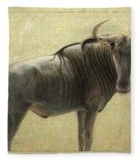 Wildebeest Fleece Blanket