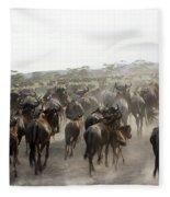 Wildebeest Migration  Fleece Blanket
