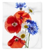Wildflower Arrangement Fleece Blanket
