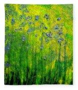 Wildflower Impression By Jrr Fleece Blanket