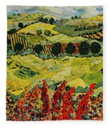 Wildflower Jungle Fleece Blanket