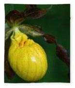 Wildflower Lady Slipper Fleece Blanket