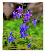 Wildflower Larkspur Fleece Blanket