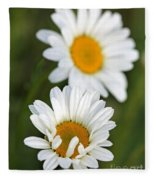 Wildflower Named Oxeye Daisy Fleece Blanket