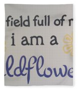 Wildflower Phrase Fleece Blanket
