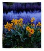 Wildflower Reflection Fleece Blanket