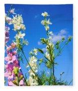 Wildflowers #13 Fleece Blanket