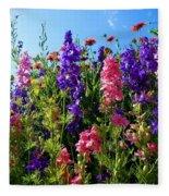Wildflowers #14 Fleece Blanket