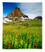 Wildflowers At Logan Pass Fleece Blanket