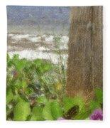 Wildflowers At The Beach Fleece Blanket