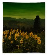 Wildflowers In The Beartooth Mountains Fleece Blanket