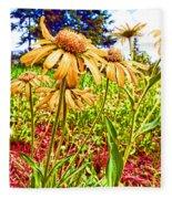 Wildflowers In The Wilds Of Colorado Fleece Blanket