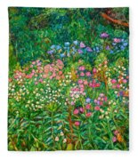 Wildflowers Near Fancy Gap Fleece Blanket