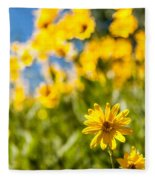Wildflowers Standing Out Abstract Fleece Blanket